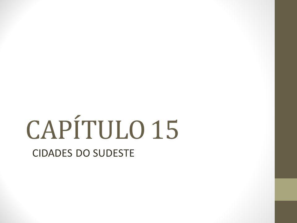 CAPÍTULO 15 CIDADES DO SUDESTE