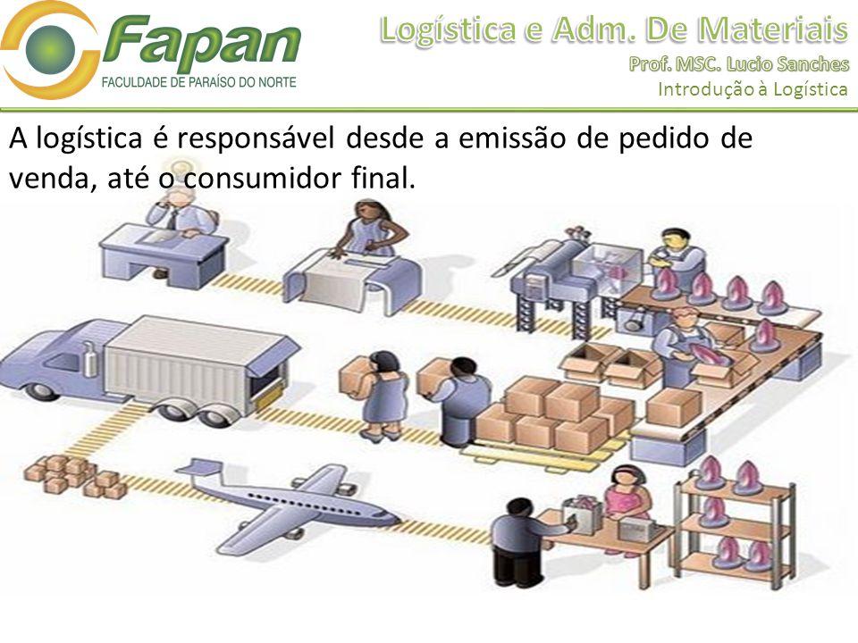 A logística é responsável desde a emissão de pedido de venda, até o consumidor final.