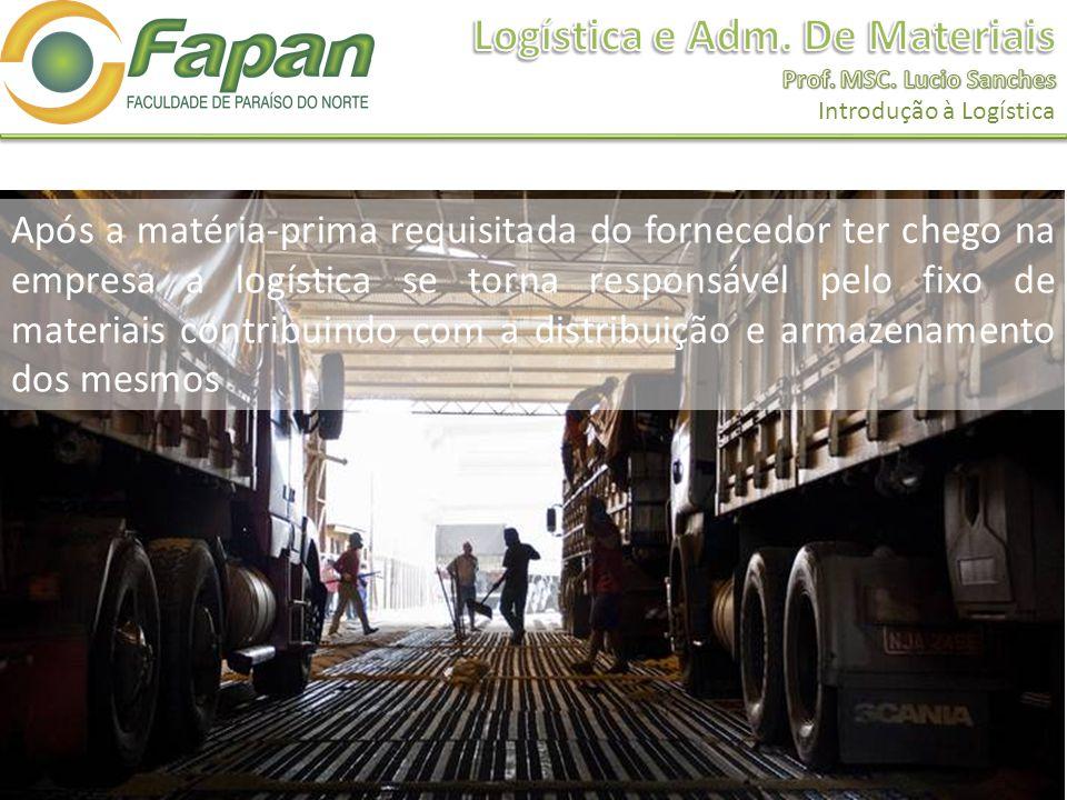 Após a matéria-prima requisitada do fornecedor ter chego na empresa a logística se torna responsável pelo fixo de materiais contribuindo com a distrib