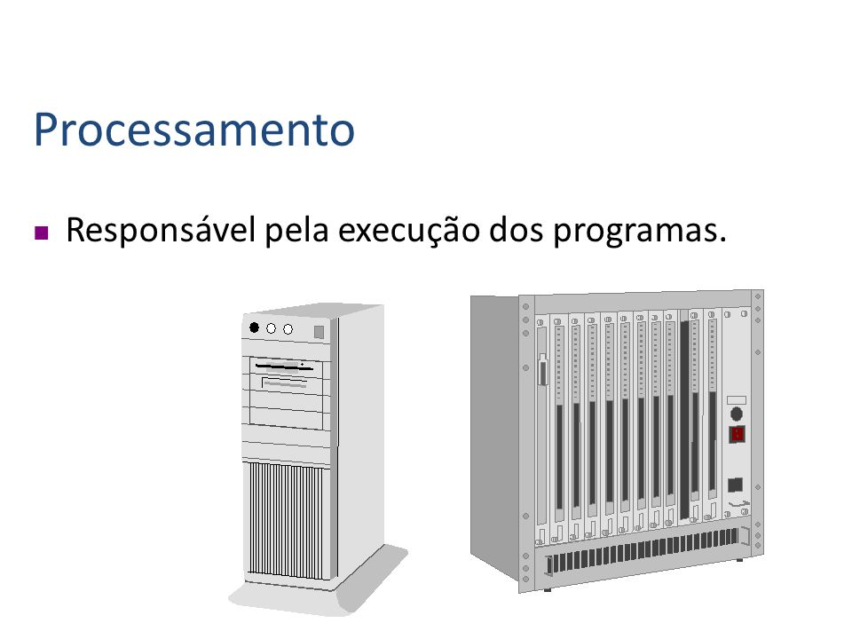 Saída É responsável pelo fornecimento dos dados do computador para o usuário.