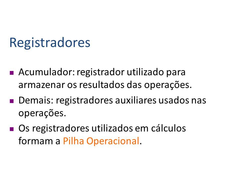 Componentes da UCP ULA (Unidade Lógica e Aritmética): é responsável pelas operações lógicas (comparações) e aritméticas (adição, subtração, etc...).