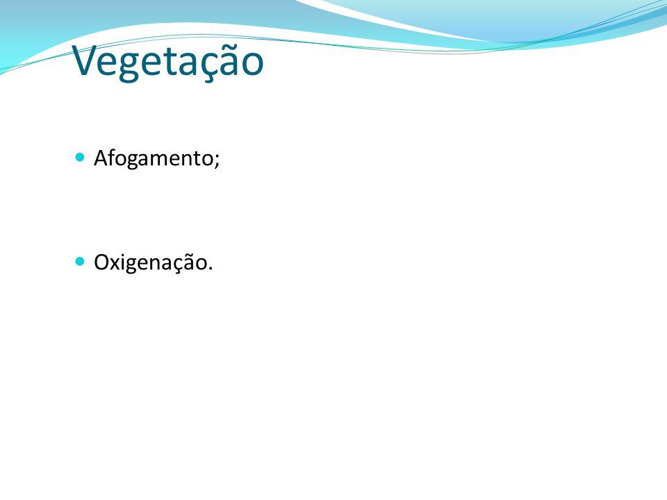 Afogamento; Oxigenação. Vegetação