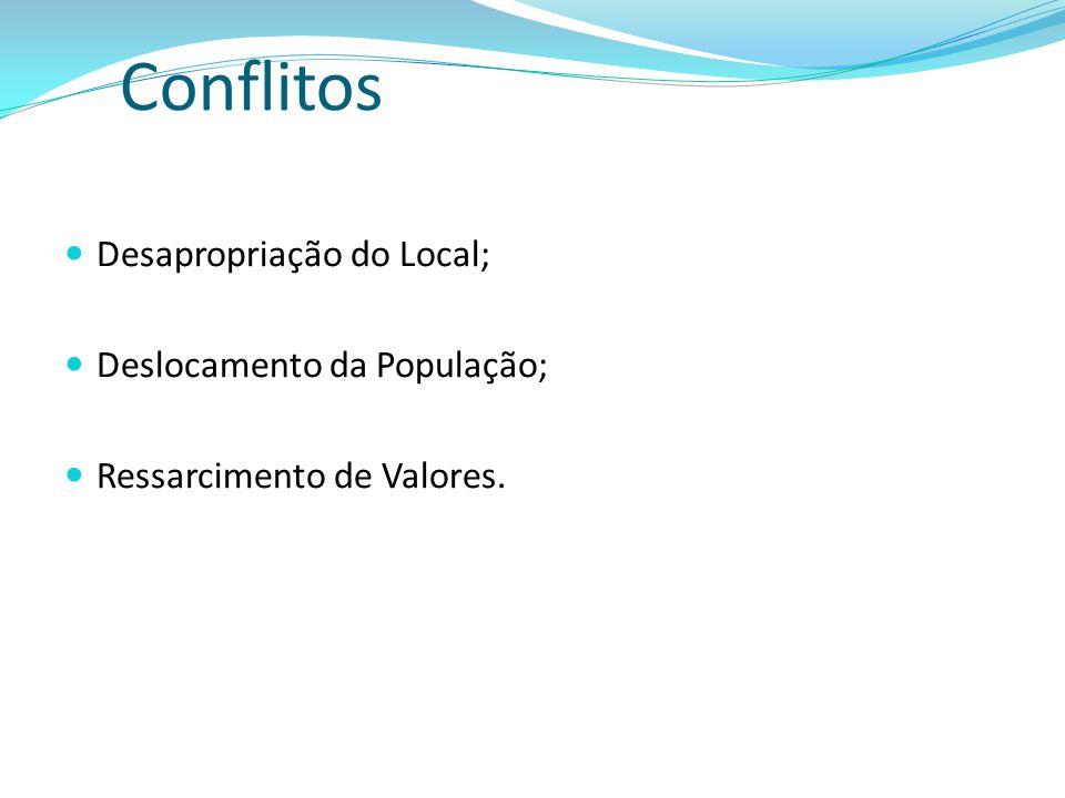 Desapropriação do Local; Deslocamento da População; Ressarcimento de Valores.