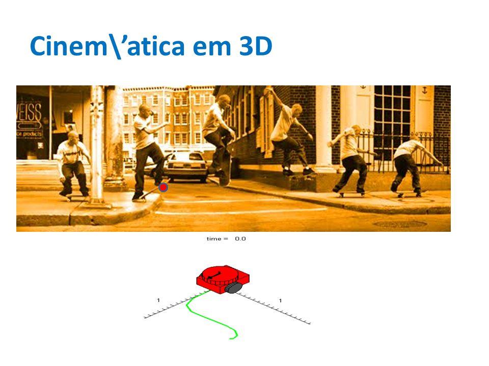 Cinem\atica em 3D
