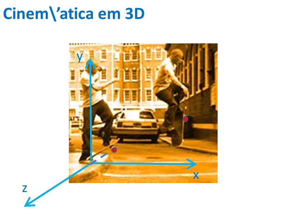 Cinem\atica em 3D x y z