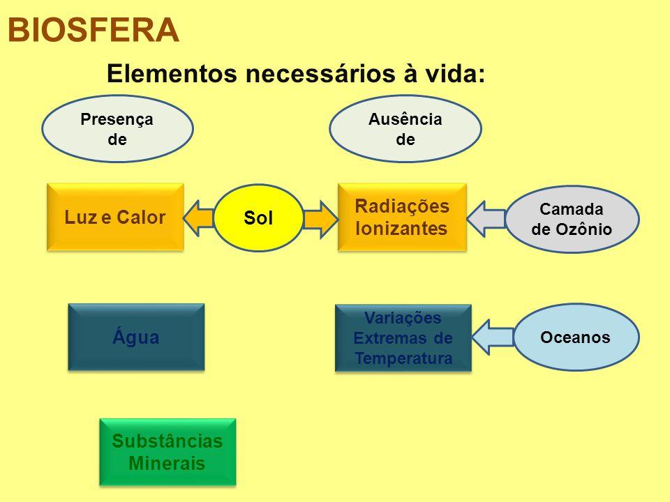 BIOSFERA: (LITO+HIDRO+ATMO)SFERA REGIÃO DA VIDA