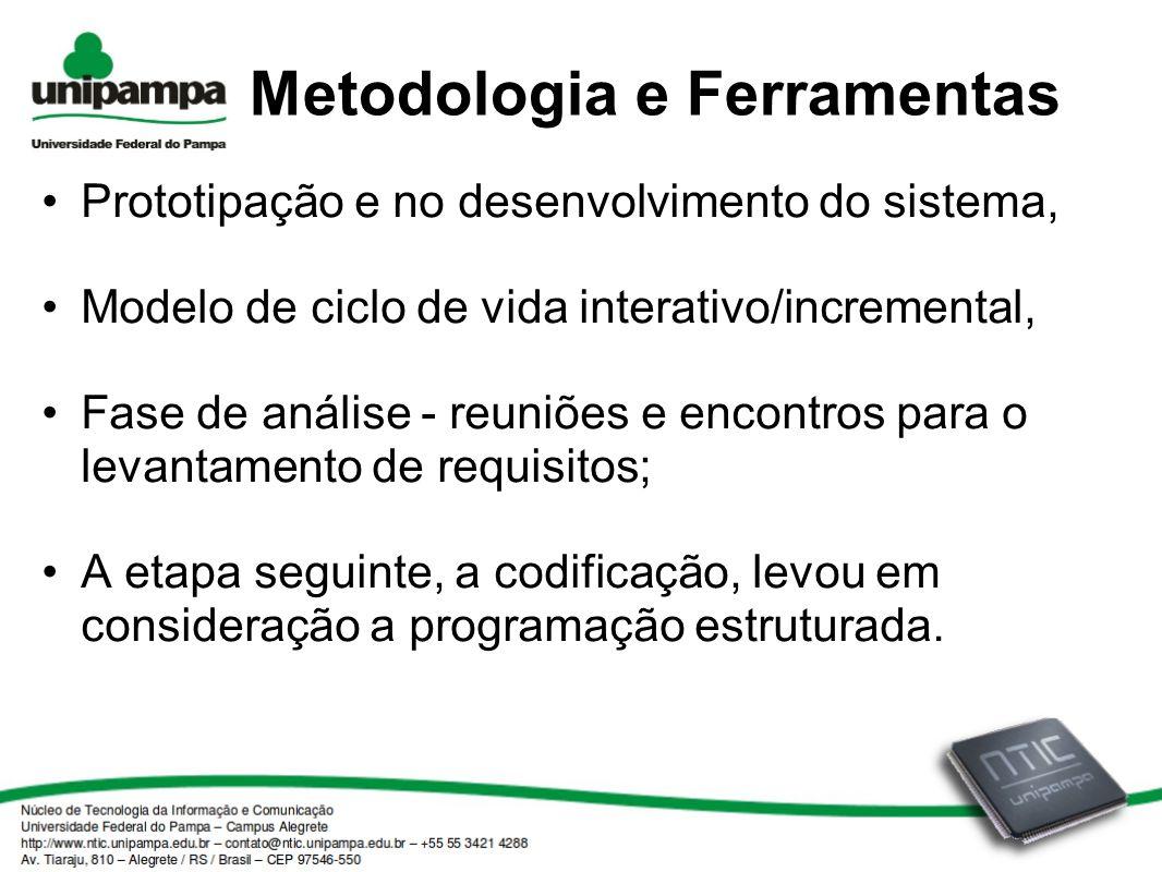 Metodologia e Ferramentas Prototipação e no desenvolvimento do sistema, Modelo de ciclo de vida interativo/incremental, Fase de análise - reuniões e e