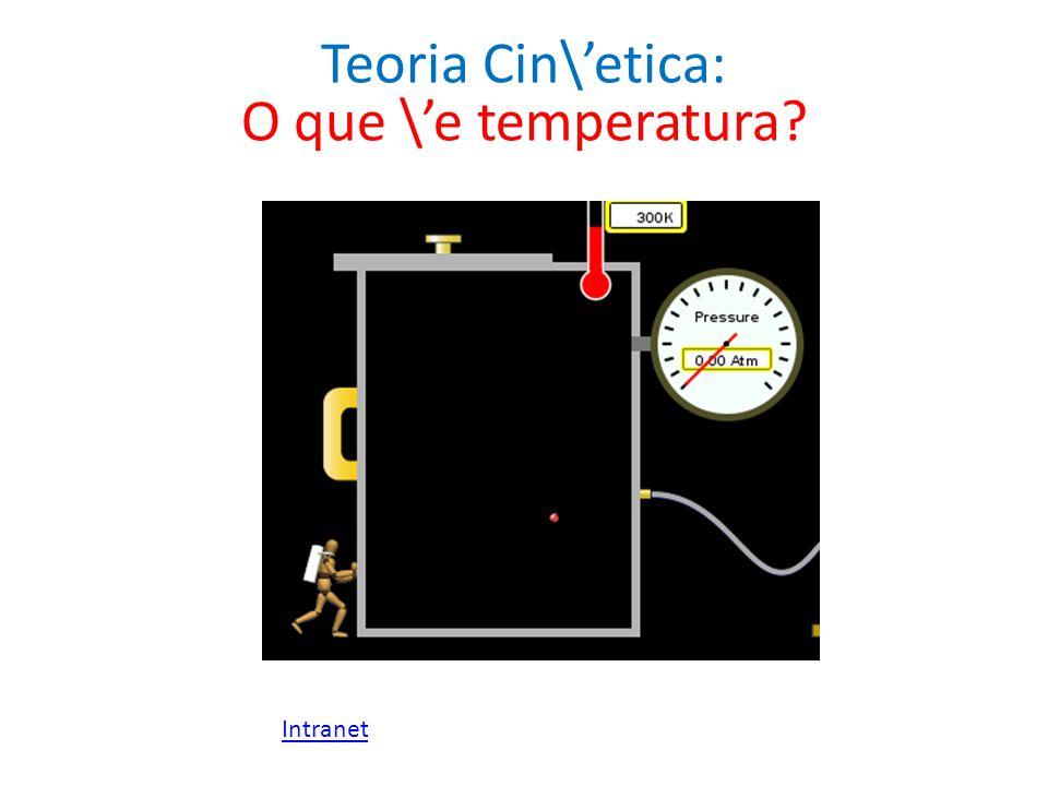 Teoria Cin\etica: O que \e temperatura? Intranet