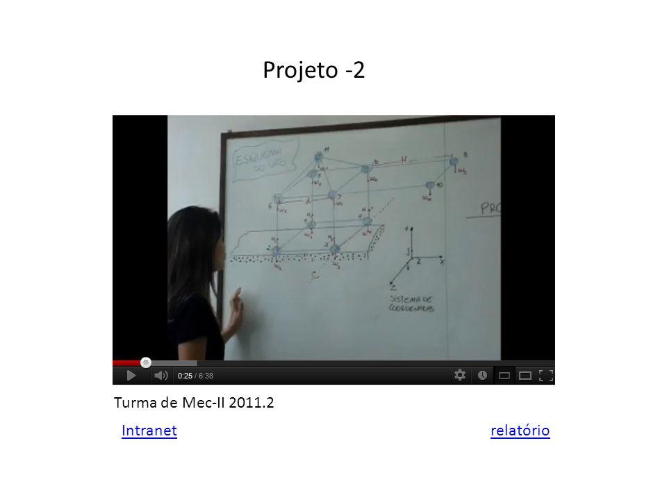 Projeto -2 Intranet Turma de Mec-II 2011.2 relatório