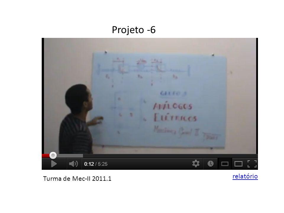 Projeto -6 Turma de Mec-II 2011.1 relatório