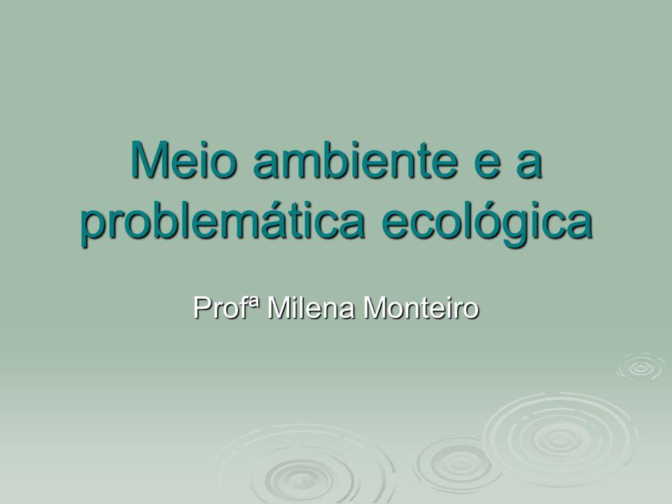 Meio ambiente e a problemática ecológica Profª Milena Monteiro