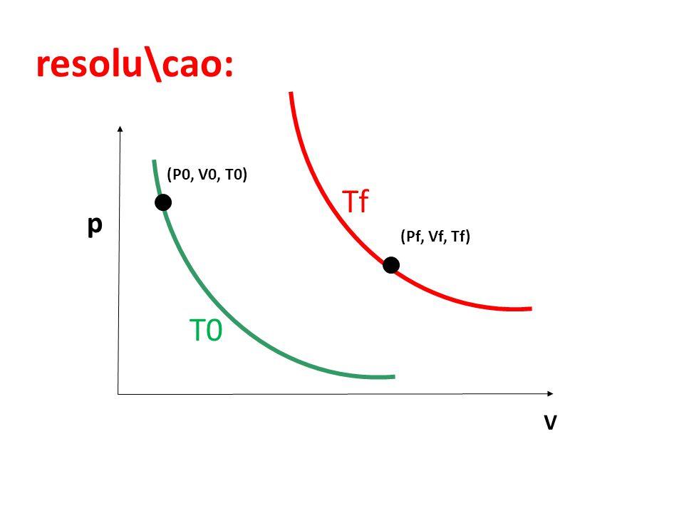 resolu\cao: V p T0 Tf (P0, V0, T0) (Pf, Vf, Tf)