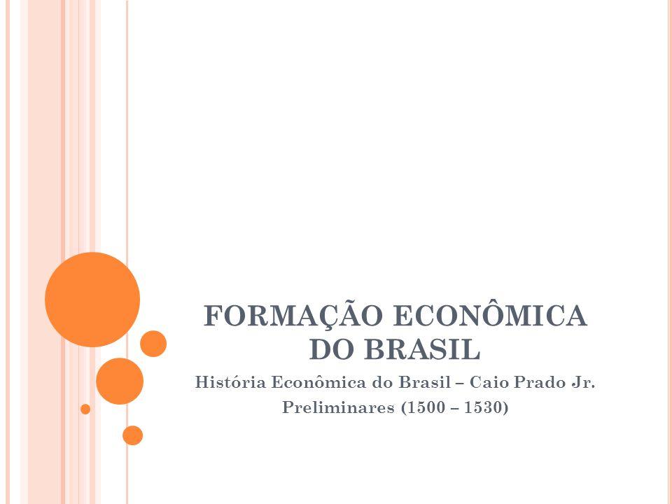 FORMAÇÃO ECONÔMICA DO BRASIL História Econômica do Brasil – Caio Prado Jr.