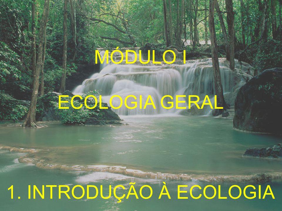MÓDULO I ECOLOGIA GERAL 1. INTRODUÇÃO À ECOLOGIA