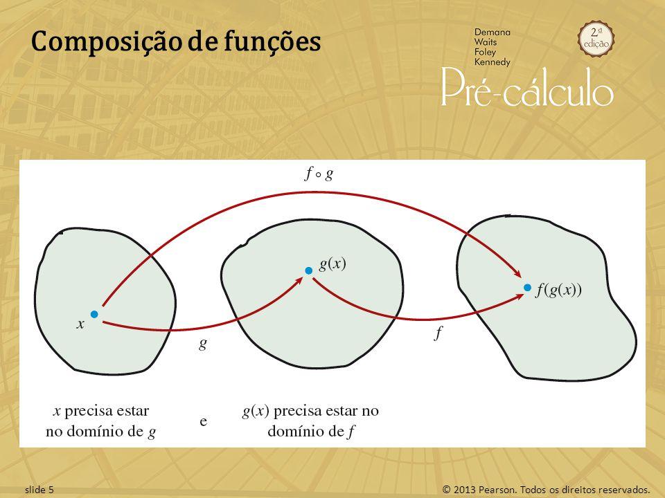 © 2013 Pearson. Todos os direitos reservados.slide 5 Composição de funções