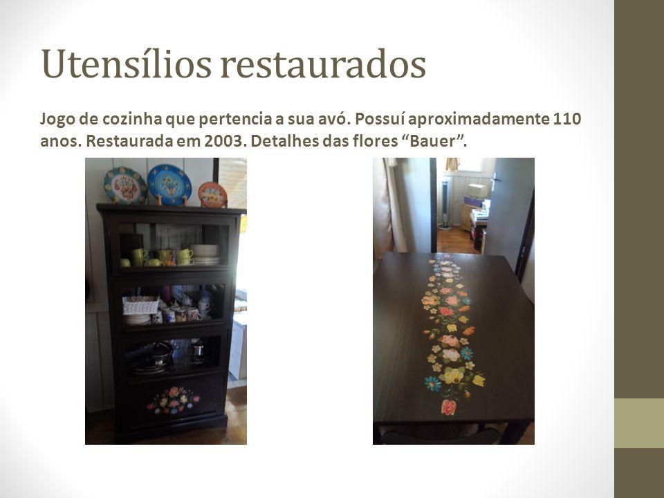 Utensílios restaurados Jogo de cozinha que pertencia a sua avó.