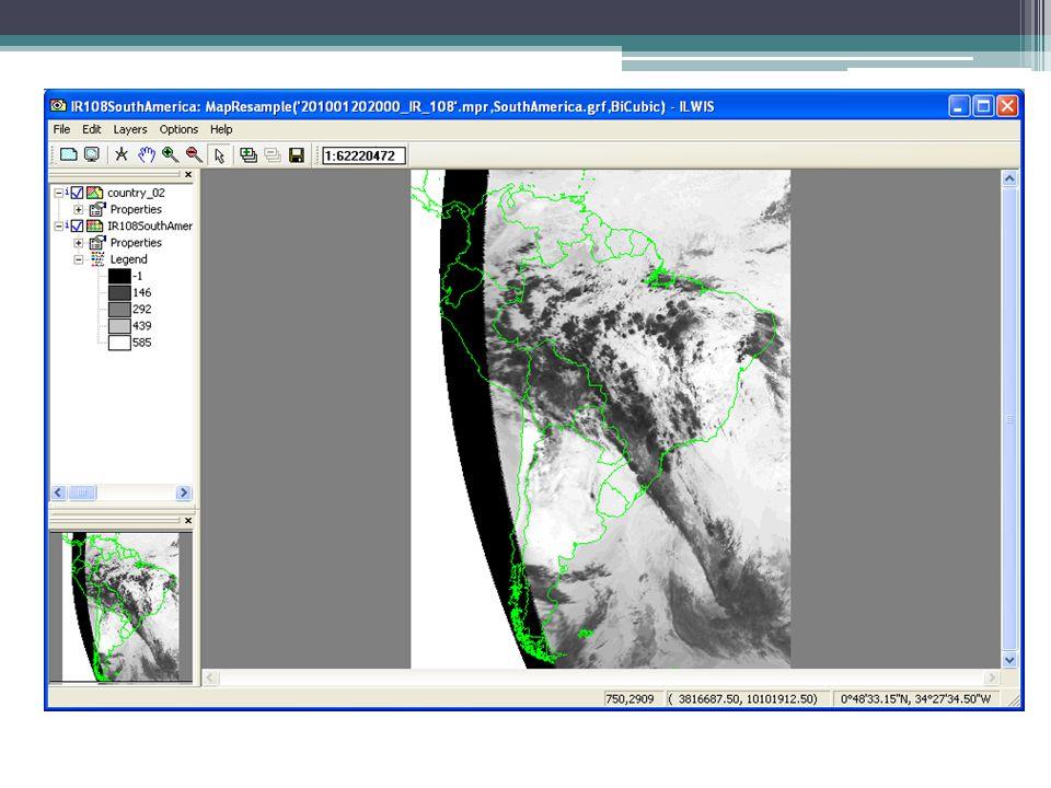 MapWindow - Original MSG IR108 image