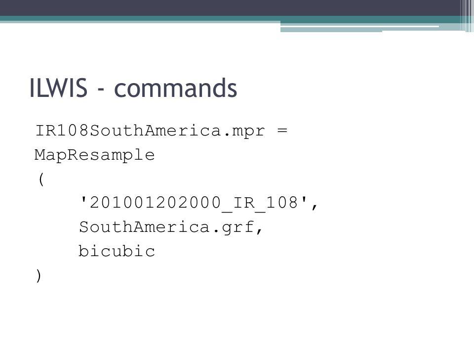 ILWIS – command-line