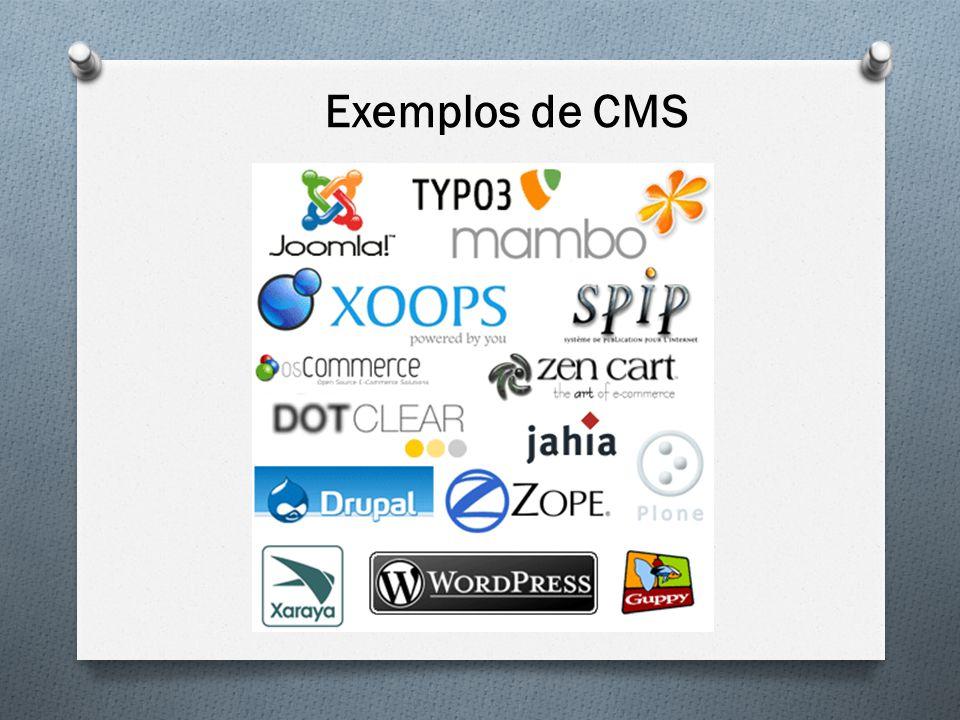 Exemplos de CMS