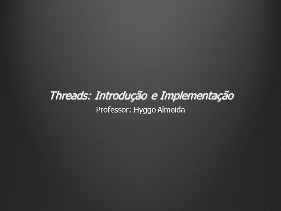 Estendendo Thread 12 Threads: Introdução e Implementação public class SimpleThread extends Thread { public SimpleThread(String str) { super(str); } public void run() { for (int i = 0; i < 10; i++) { System.out.println(i + + getName()); try { sleep((long)(Math.random() * 1000)); } catch (InterruptedException e) {} } System.out.println(Feito.