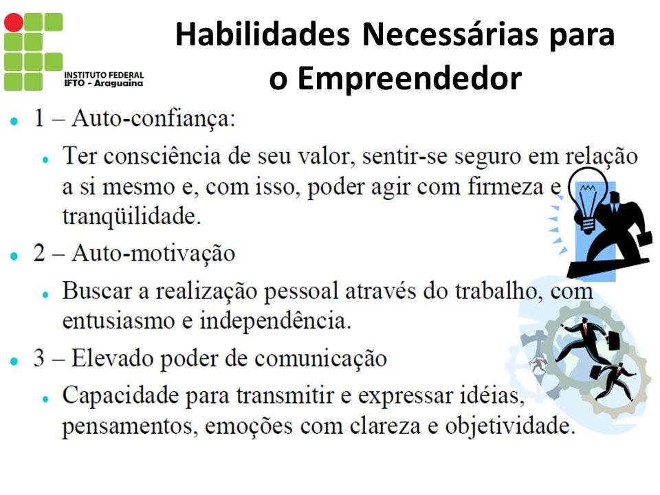 Habilidades Necessárias para o Empreendedor