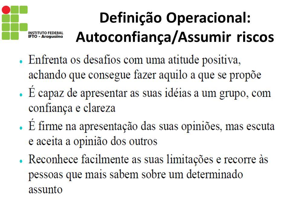 Definição Operacional: Relações interpessoais
