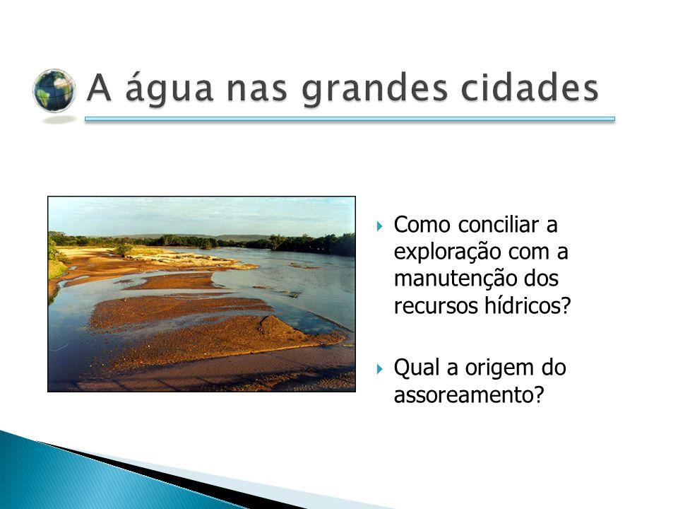 Como conciliar a exploração com a manutenção dos recursos hídricos? Qual a origem do assoreamento?