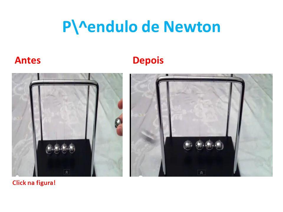 P\^endulo de Newton AntesDepois Click na figura!
