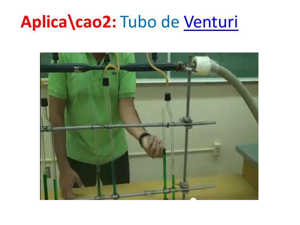 Aplica\cao2: Tubo de VenturiVenturi