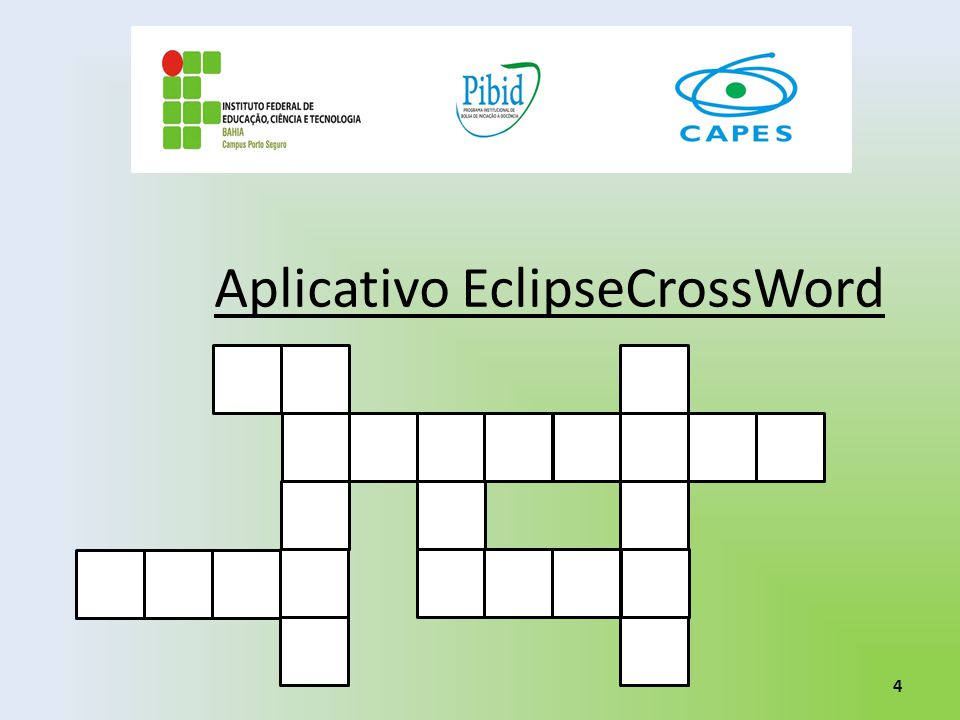 Aplicativo EclipseCrossWord 4