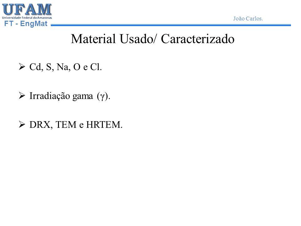 FT - EngMat João Carlos.Material Usado/ Caracterizado Cd, S, Na, O e Cl.