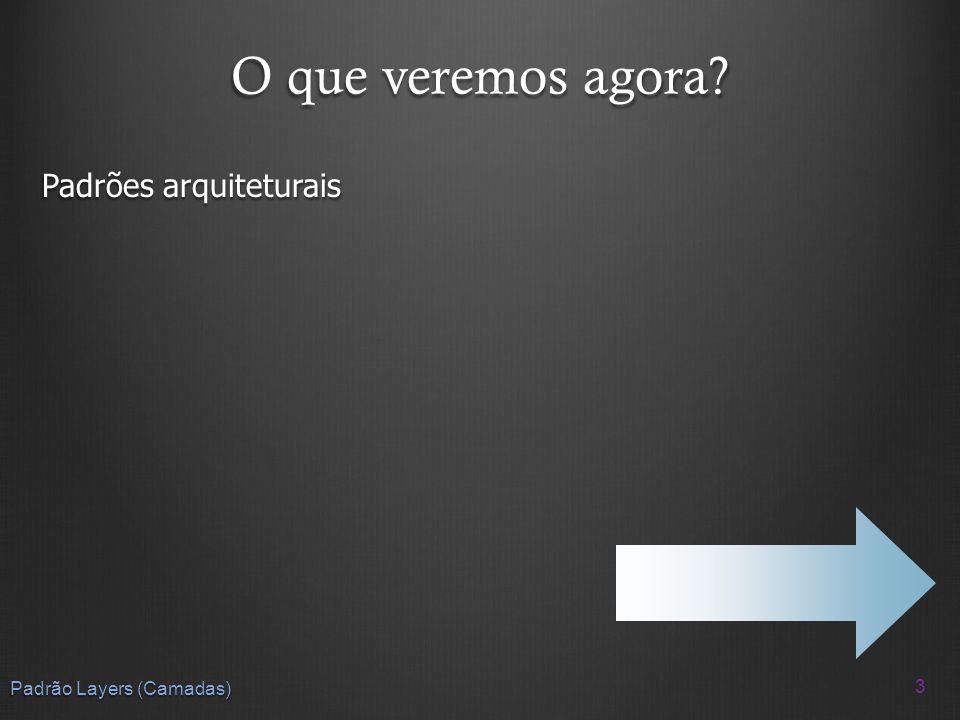 O que veremos na próxima aula? Estudos de caso de arquiteturas 64 Padrão Layers (Camadas)