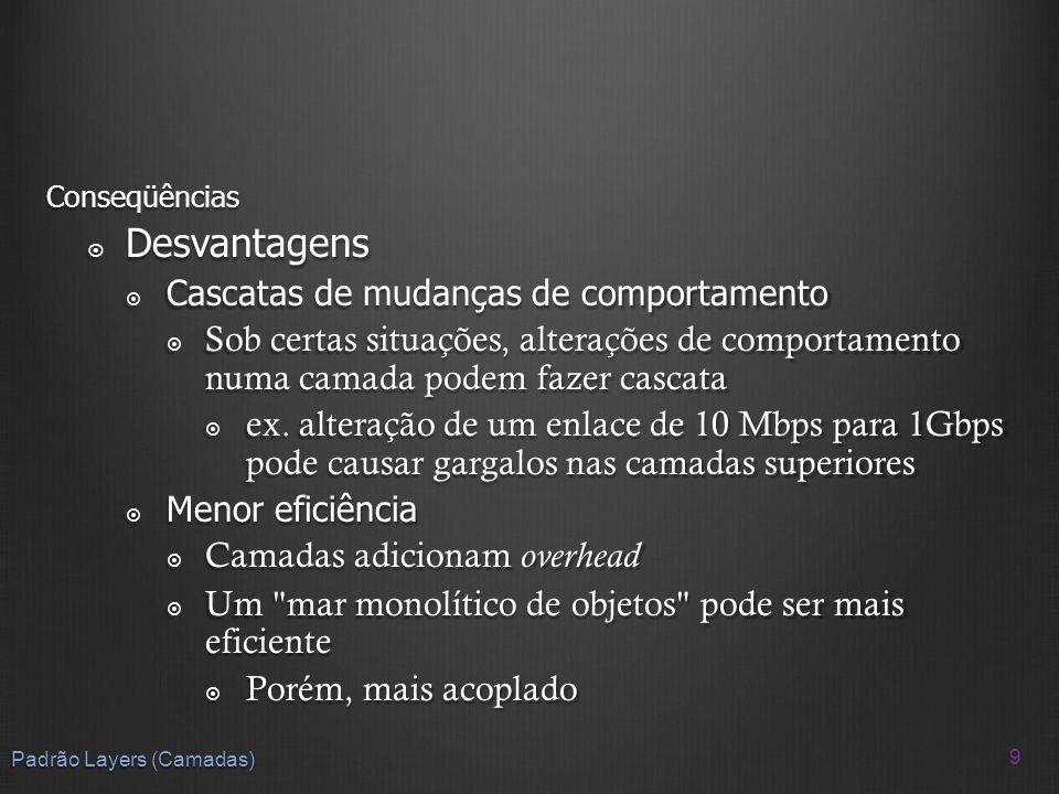 50 Padrão MVC Problema Interfaces com o usuário são sensíveis a mudanças: Interfaces com o usuário são sensíveis a mudanças: A aplicação pode ter que ser implementada em outra plataforma.