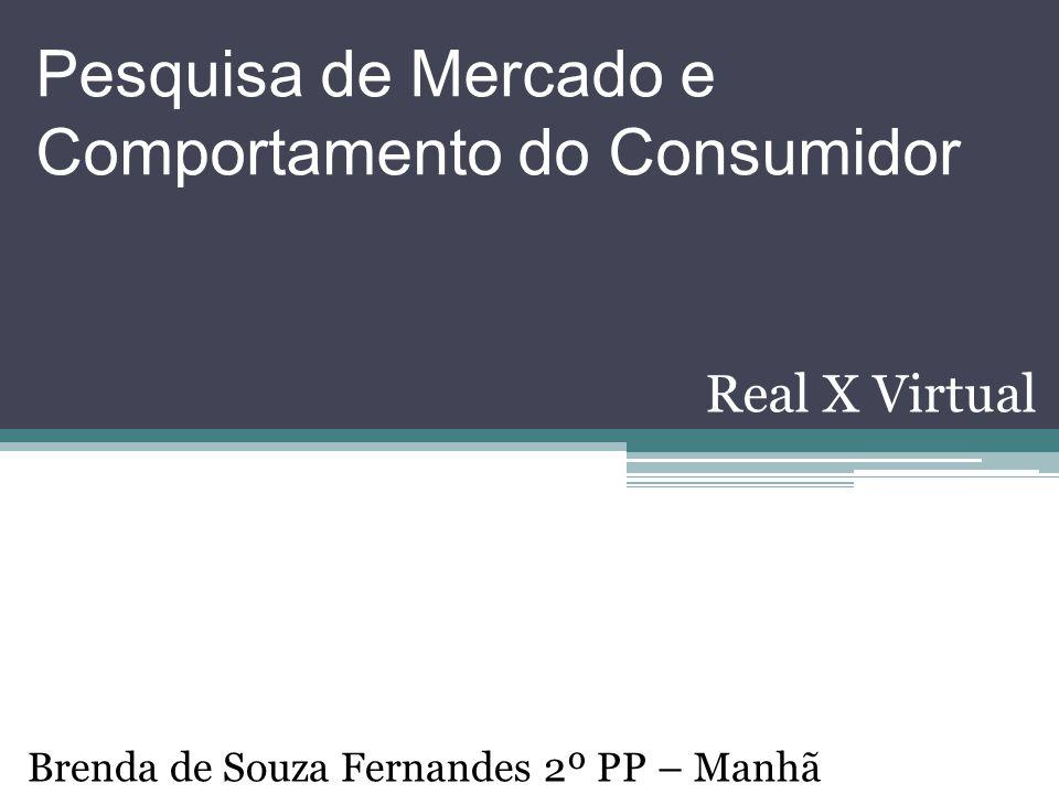 Pesquisa de Mercado e Comportamento do Consumidor Real X Virtual Brenda de Souza Fernandes 2º PP – Manhã