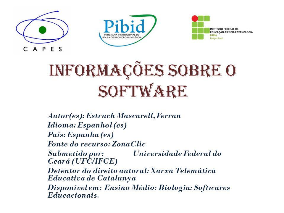 Informações sobre o software Autor(es): Estruch Mascarell, Ferran Idioma: Espanhol (es) País: Espanha (es) Fonte do recurso: ZonaClic Submetido por: U