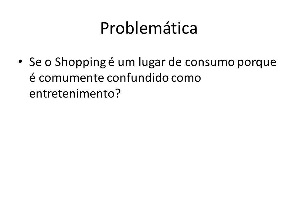 Problemática Se o Shopping é um lugar de consumo porque é comumente confundido como entretenimento?