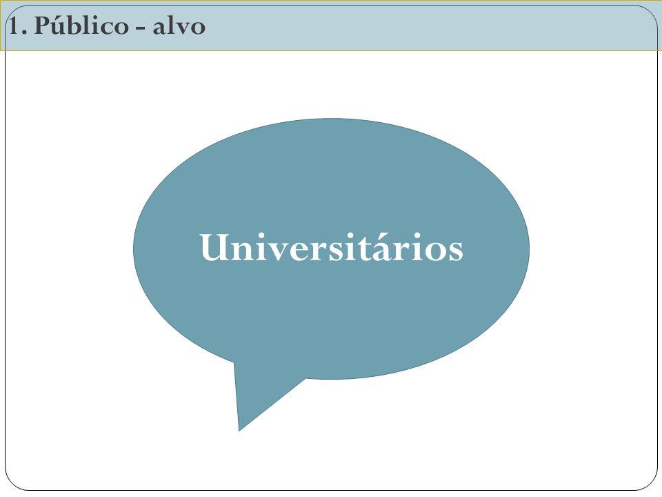 1. Público - alvo Universitários