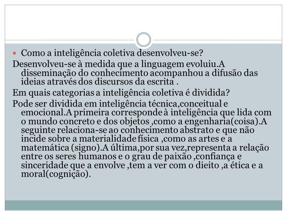 Qual é um dos instrumentos privilegiados da inteligência coletiva.