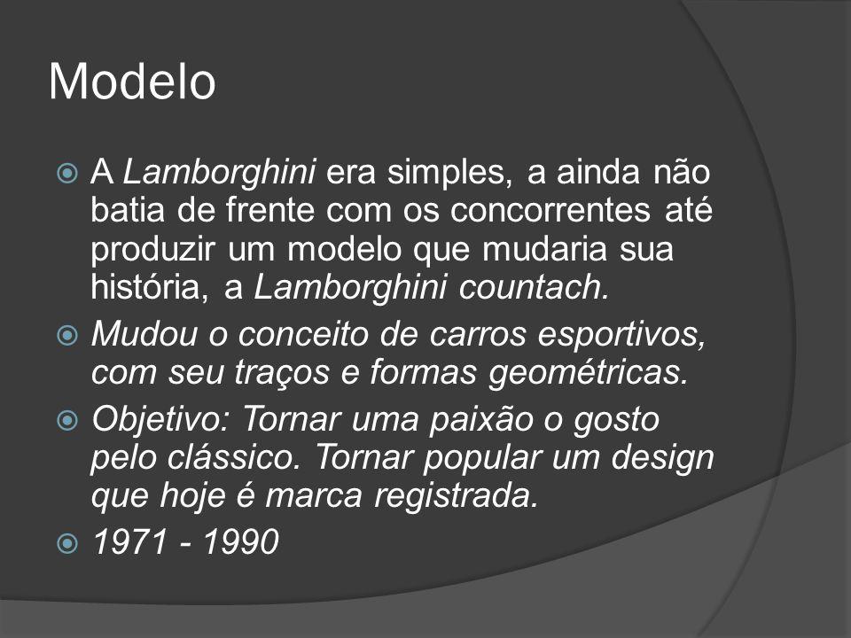 Modelo A Lamborghini era simples, a ainda não batia de frente com os concorrentes até produzir um modelo que mudaria sua história, a Lamborghini countach.