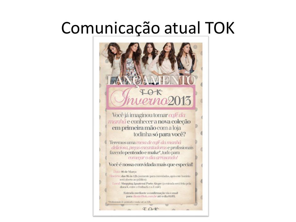 Comunicação atual TOK