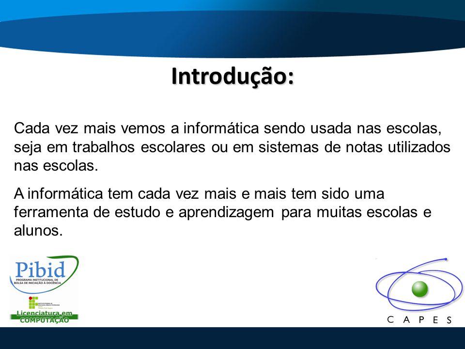 Descrição do Objeto Educacional: Antes do desenvolvimento do software, houve uma coleta solicitada pelo coordenador do PIBID do curso de Licenciatura em Computação de um objeto virtual de aprendizagem da mesma disciplina deste software.