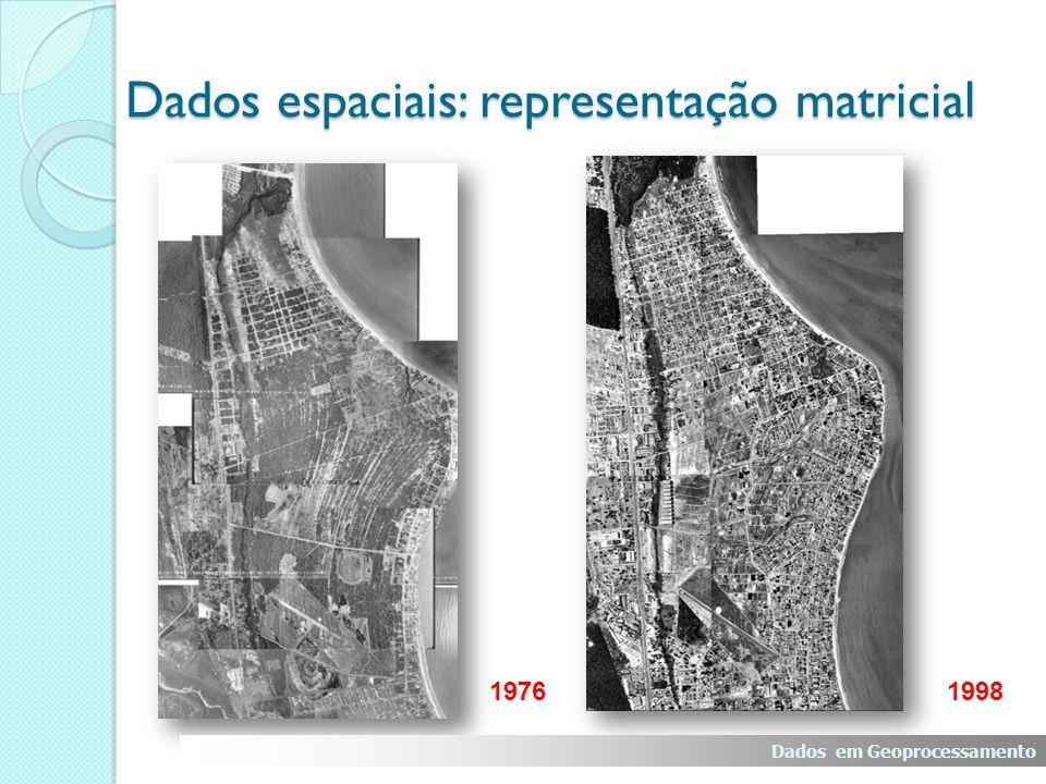 Formato Matricial Formato Vetorial Dados em Geoprocessamento Dados espaciais: Matricial X Vetorial