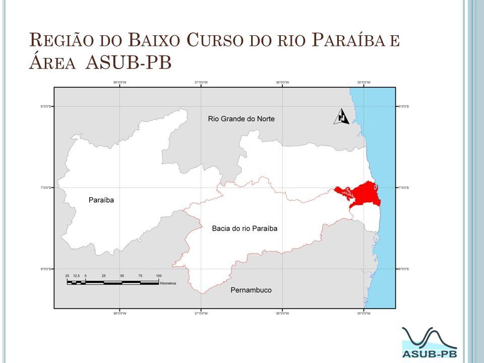 Mapa Geológico da Bacia Sedimentar Costeira do Baixo Curso do rio Paraíba.