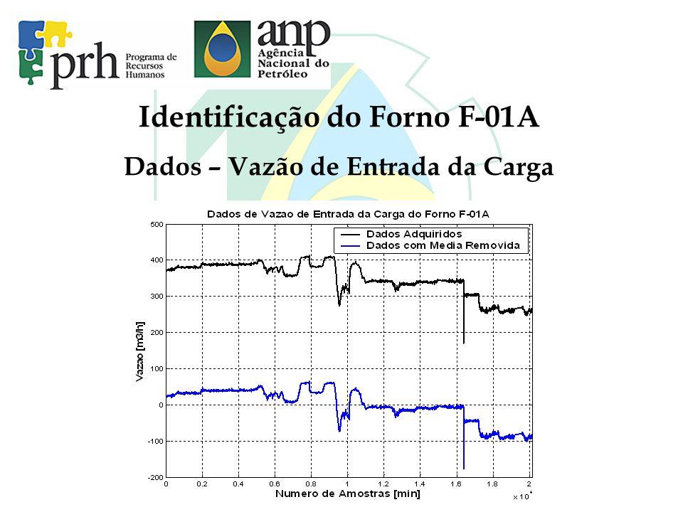 Identificação do Forno F-01A Dados – Vazão de Entrada da Carga