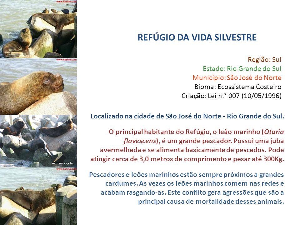 nema-rs.org.br Região: Sul Estado: Rio Grande do Sul Município: São José do Norte Bioma: Ecossistema Costeiro Criação: Lei n.° 007 (10/05/1996) Locali