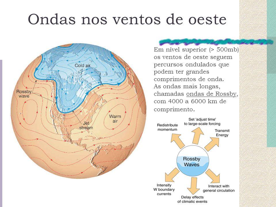 Em nível superior (> 500mb) os ventos de oeste seguem percursos ondulados que podem ter grandes comprimentos de onda. As ondas mais longas, chamadas o