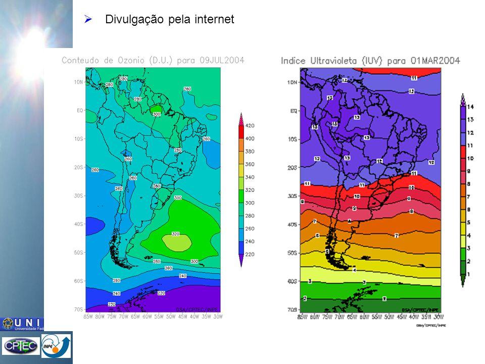 Previsão do conteúdo de ozônioPrevisões para 5 dias