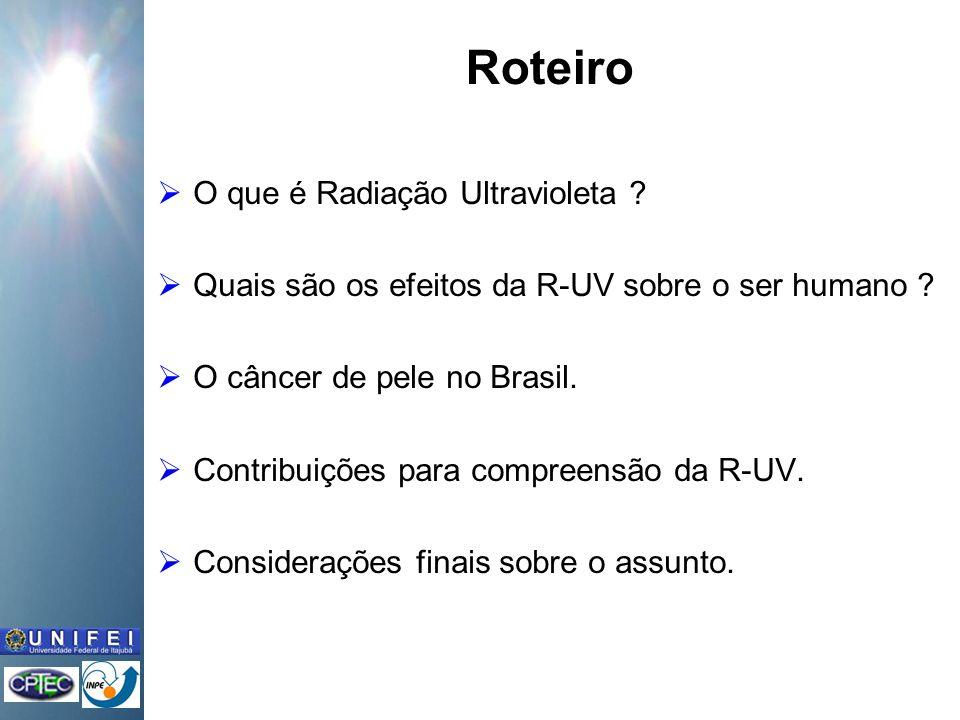 Roteiro O que é Radiação Ultravioleta .Quais são os efeitos da R-UV sobre o ser humano .