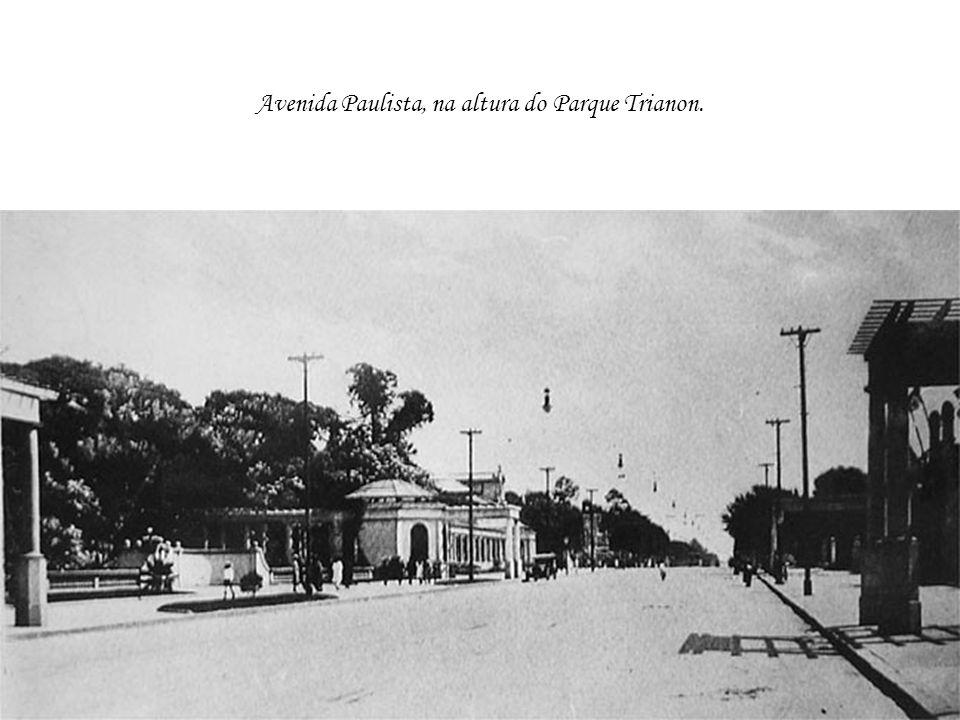 Avenida Paulista, na altura do Parque Trianon.