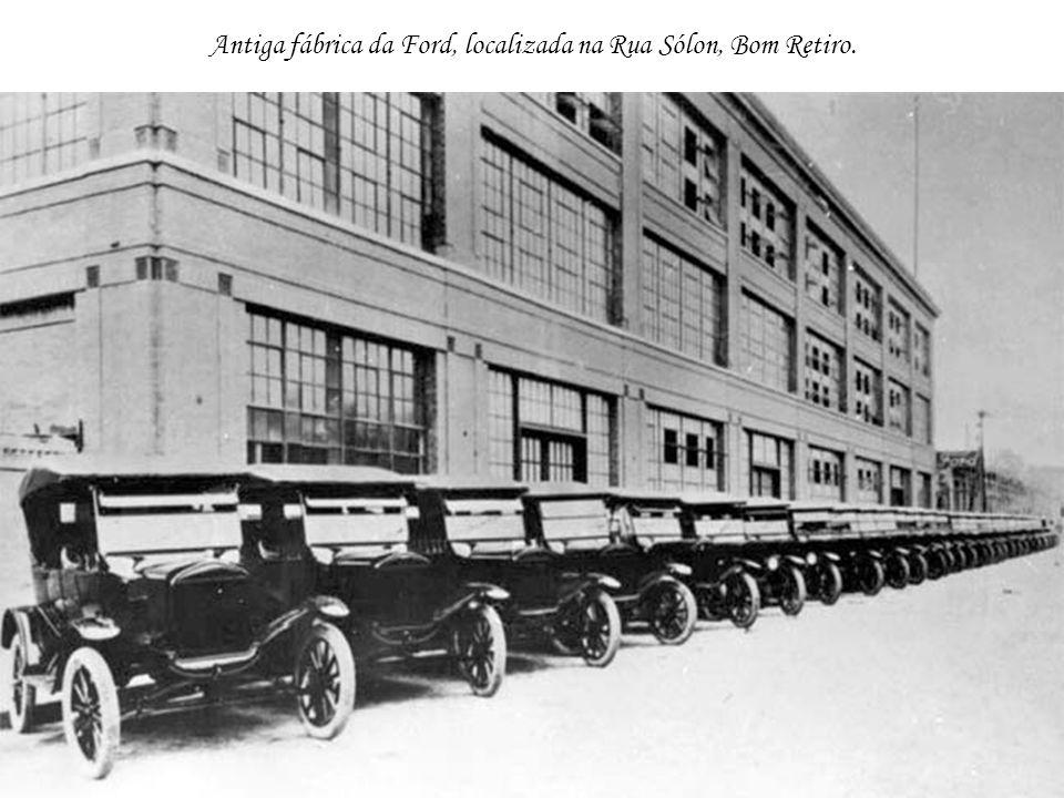 Antiga fábrica da Ford, localizada na Rua Sólon, Bom Retiro.